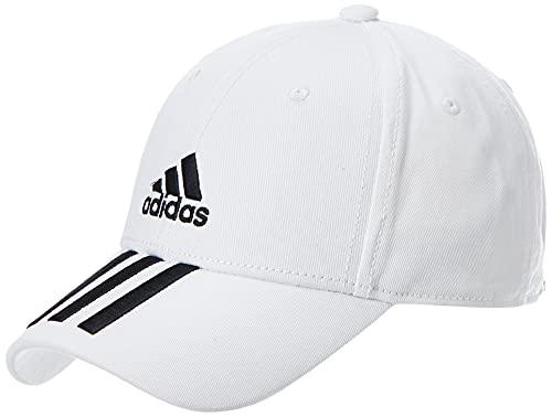 adidas Bball 3S cap CT, Cappellino Unisex – Adulto, White/Black/Black, OSFW