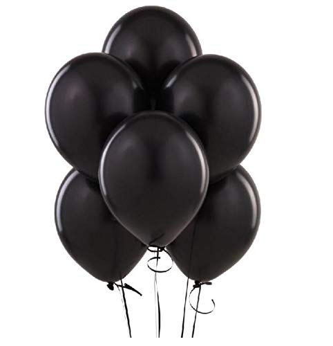 King's deal 12 inches100 Pcs Latex Balloons For Party Supplies Decorations Balloon -Black