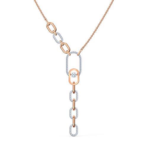 Swarovski Sparkling Dance North Y-Halskette, Damenhalskette im Metallmix mit Funkelnden Swarovski Kristallen