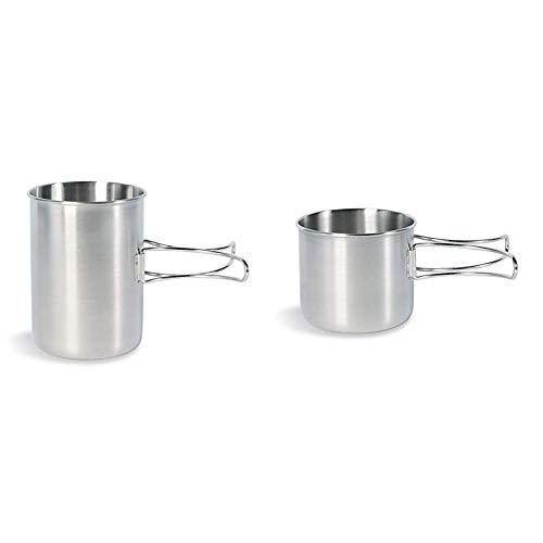Tatonka Handle Mug 850 Becher, Transparent, 10 x 13,5 cm & Becher Handle Mug 600, transparent, 10 x 10.8 cm