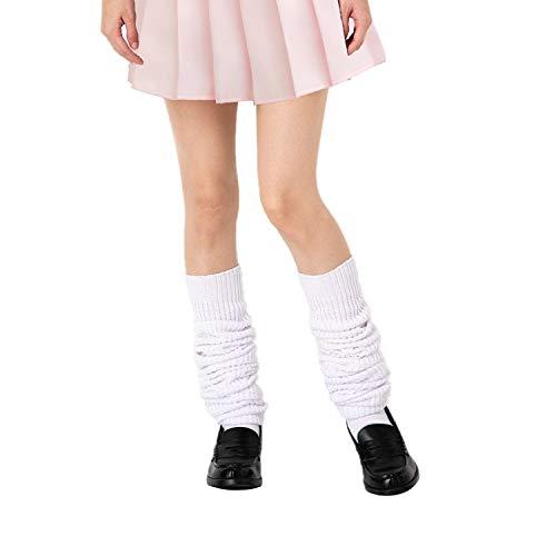 Lose Socken, japanische Studenten, Mädchen, lockere Strümpfe, super lang, 40 - 180 cm. - Weiß - 120 cm