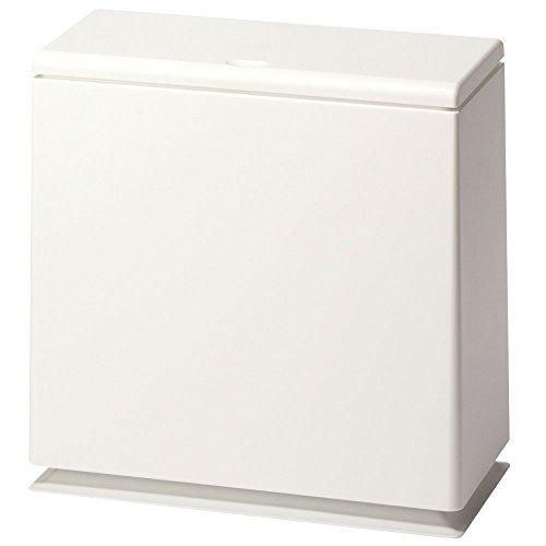 ゴミ箱 ふた付き スリム プッシュ式 【袋が見えない】 ダストボックス 分別 コンパクト おしゃれ 新生活 ホワイト