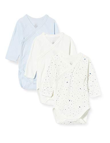 Petit Bateau 5649700 Conjunto de ropa interior para bebés y niños pequeños, Azul blanco/azul blanco, 1 mes