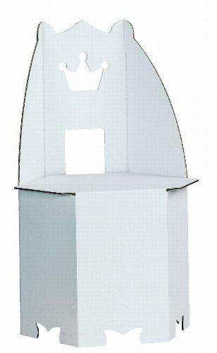 Kreul 39108 - Joypac Bastelkarton Thron, ca. 35,5 x 30,5 x 58,5 cm, weiß zum selber Gestalten