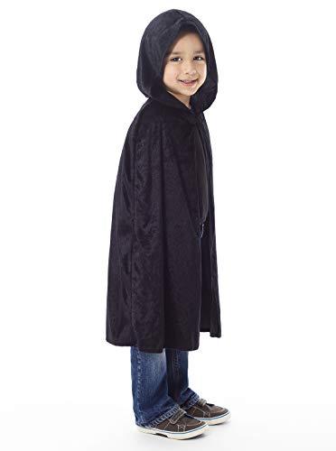 Capa Negra Con Capucha  marca Little Adventures