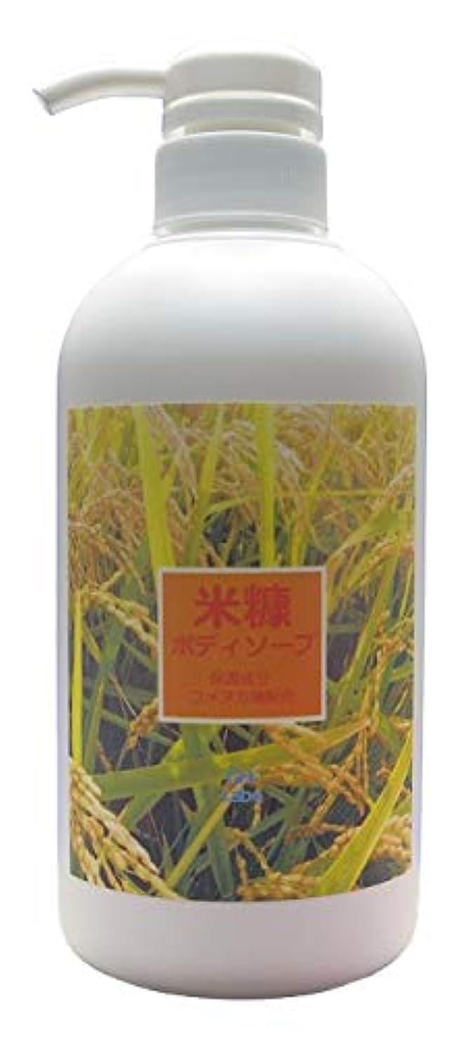 インゲン死すべき可塑性しっとり米糠のボディソープ 480mL