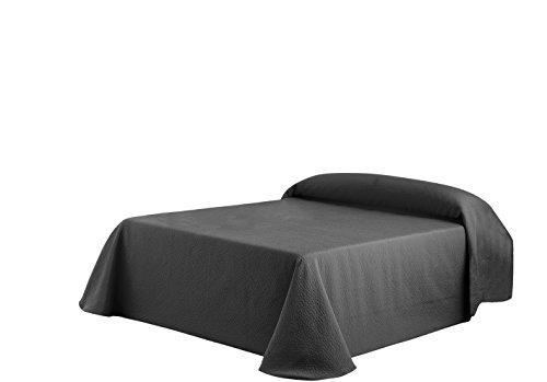 Eysa Bettüberwurf, Polyester, Jaquardgewebe, 235 cm, 75 Prozent, 25 Prozent Baumwolle, Kies, Tagesdecke Grau 16