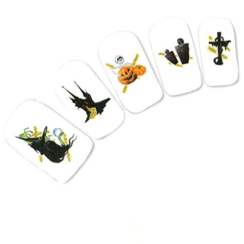 JUSTFOX - Tattoo Nail Halloween heks kat glitter sticker nagel sticker nagels water decal