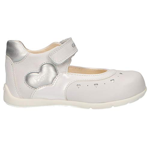 Geox B Kaytan D, Bailarinas Bebés, Blanco White/Silver