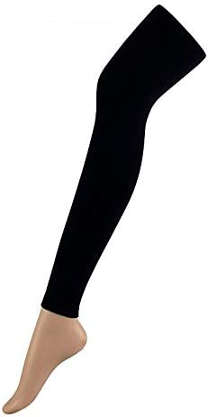 Sun Fashion Women's 150D High Elastic Super Soft Opaque Tights Footless Panty Hose