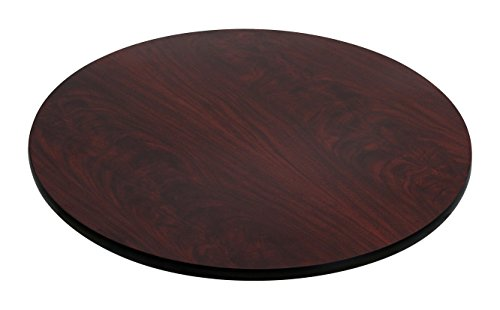 Flash Furniture 30'' Round Table Top with Black or Mahogany Reversible Laminate Top