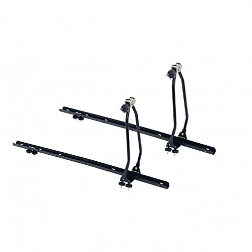 Oypla 2x Universal Upright Lockable Roof Mounted Bike Bicycle Rack Bar Carriers