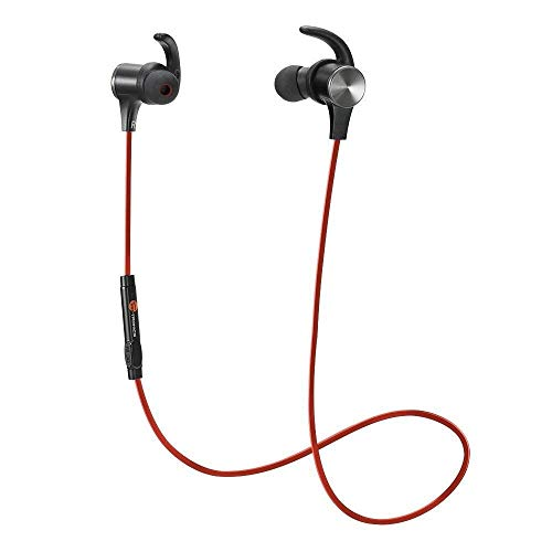 Wireless Earbuds TaoTronics TT-BH071 Bluetooth 5.0 Sports Magnetic Earbuds 18 Hours Playtime aptX HD Audio Codec CVC 8.0 Noise Cancellation Mic IPX6 Waterproof Hands-Free Calls