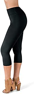 SATINA High Waisted Super Soft Capri Leggings - 20 Colors...