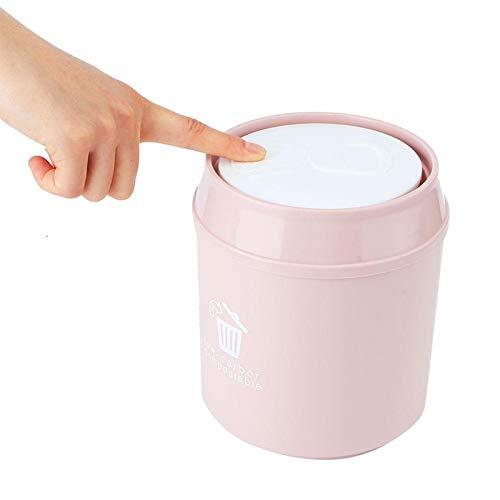 Omabeta Cubo de Basura Bote de Basura Cubo de Basura Casa Dormitorio Dormitorio Baño(Pink)