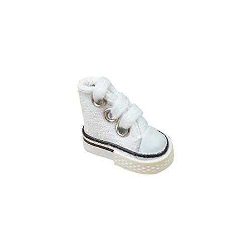 Jerome10Dan Mini Zapatilla de Lona para niños/Adultos - Skateboard Finger Juegos de Baile con Dedos Mini Skate Shoes Fingerboard Tennis Tennis - Regalo de cumpleaños (sin llaveros) bearable