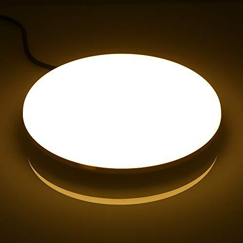 Lixada AC85-265V 18W 96 LED 1620LM ronde cirkelvormige UFO-lampen plafondlamp voor trappen, hal, woonkamer, slaapkamer, warm wit
