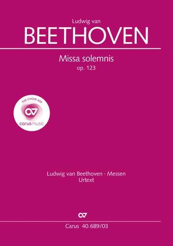 Missa solemnis (Klavierauszug): op. 123, 1817/23