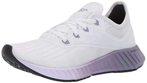 Reebok Women's FLASHFILM 2.0 Running Shoe, White/Lilac Frost/Violet Haze, 8.5 M US