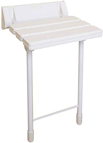 YHtech Handrails ~ Daily Necessities Solid Wood Folding Wall Stool Shower Stool Folding Chair Aisle Chair Elderly Shower Chair Changing Shoes Wall Chair Bracket Type White Safe Supplies Easy to manage