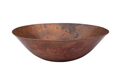 Novatto CATALONIA Copper Vessel Sink and Oil Rubbed Bronze Strainer Drain, Natural Finish