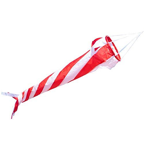 CIM Windsack - Windturbine 90 Red/White - UV-beständig und wetterfest - Ø20cm, Länge: 90cm - inkl. Kugellagerwirbelclip