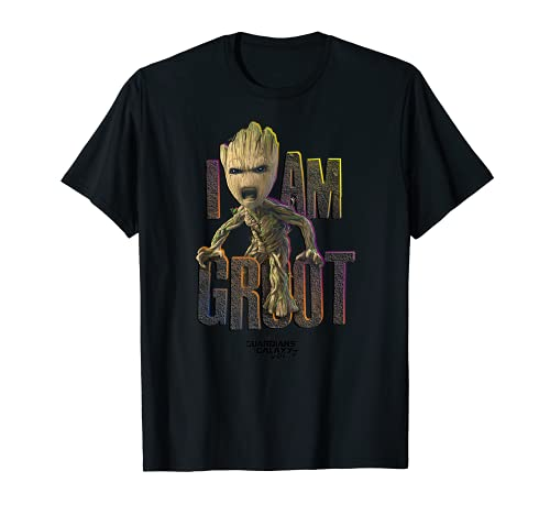 Marvel Guardians Vol.2 I AM GROOT Cute Angry Graphic T-Shirt