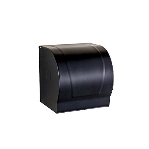 Accessoires de quincaillerie de salle de bain rétro noir Ensemble de cinq pièces (porte-serviettes + porte-serviettes double + boîte à mouchoirs + brosse de toilette + trépied) Rollsnownow