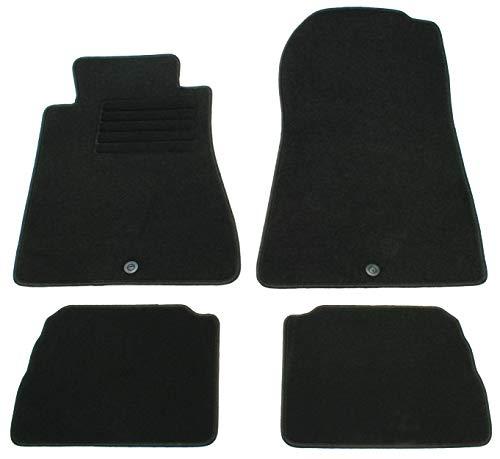 AD Tuning GmbH HG1509 Velours Passform Fußmatten Set Schwarz Autoteppiche Teppiche Carpet Floor mats