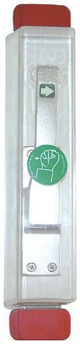 0361. Fluchthaube D2- komplett Haube mit Piktogramm, 2 Unterplatten grün