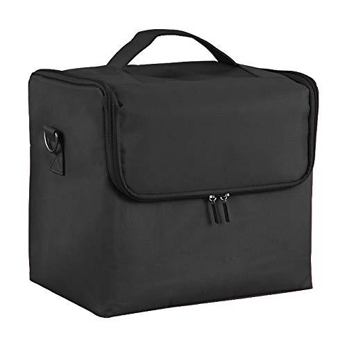 Storage Box Boîte de Rangement cosmétique Ongles,Boîte de beauté Portable imperméable en Polyester 4 Plateaux Grande capacité Trousse à Maquillage pour Organisation de Voyage