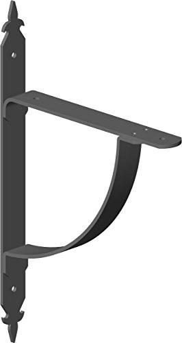 Element System 18133-00240 Regalkonsole Sissi/Regalträger / 2 Stück/schwarz, 285 x 180 mm