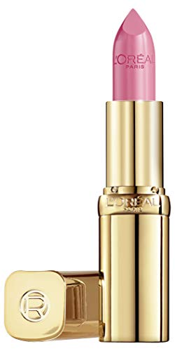 L'Oréal Paris Color Riche 136 Flamingo Elegance, farbintensiver Lippenstift mit Argan-Öl und Vitamin E, pflegt die Lippen, Satin Finish