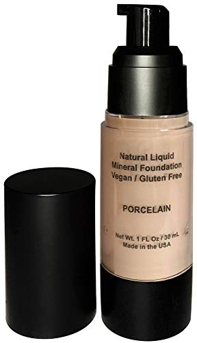 Mom's Secret 100% Natural Foundation, Organic, Vegan, Aloe Based, Natural Sun Protection, Gluten Free, Cruelty Free, Made in the USA, 1FL Oz. (Porcelain)