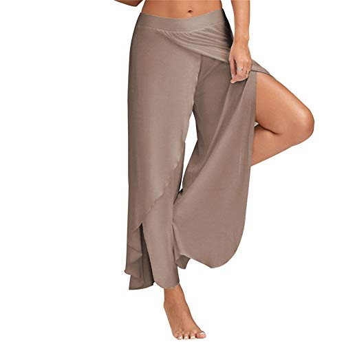 A/N Sommer Frauenhose Sexy Cross Wide Leg Yoga Hose Sport Fitness 10 Farben S-5Xl