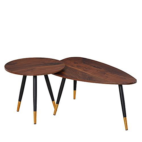 HOMCOM Lot de 2 Tables Basses gi...