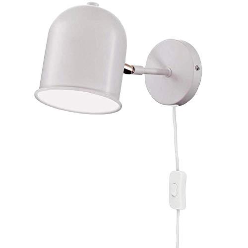 RUINAIER Iluminación de Pared Ligera para Sala de Estar. La lámpara LED Blanca Moderna cabecera Lectura de la Pared con los proyectores de Techo Ajustable, Adecuado for familias y hoteles.