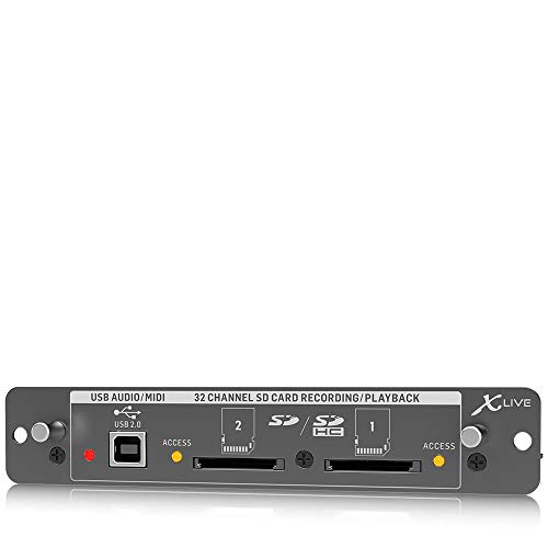 Behringer X-LIVE X32 - Tarjeta de expansión para grabación en vivo de 32 canales