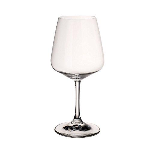 Villeroy & Boch Ovid Rotweingläser, 4er-Set, 590 ml, Kristallglas, Klar