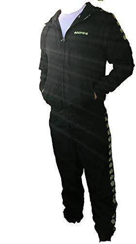 Admiral Uomo Tuta Completa Microfibra Nero Banda Logo (XXL)