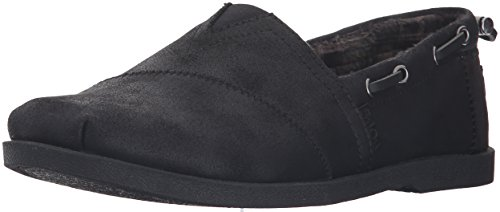 BOBS from Skechers Women's Chill Luxe Shoe, Black/Black, 6.5 M US