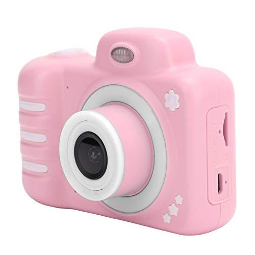 Deansh Mini cámara para niños, cámara para niños de Doble Lente, 2.4in, Pantalla Full HD, 1080P, fotografía, Video, Juguete, cámara, Caricatura, Linda cámara, Regalo de cumpleaños para niños(Rosa)