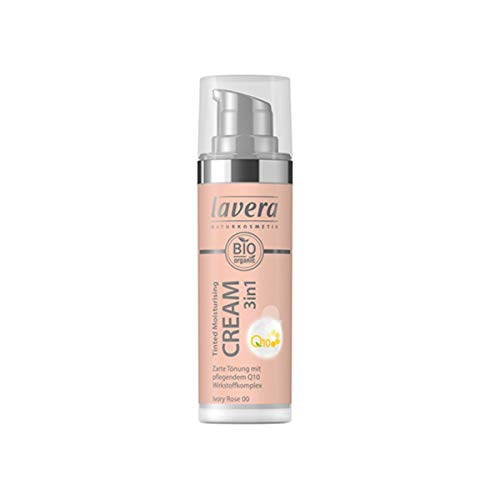 Lavera Bio Tinted Moisturising Cream 3in1 Q10 -Ivory Rose 00- (2 x 30 ml)