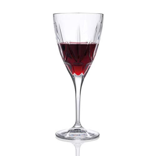 RCR Juego de 6 Copas de Cristal Luxion de la colección Chic Vino Tinto ml. Modelo: 26230020006, 360 m