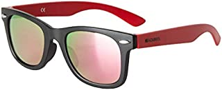 Loubsol - Gafas de sol infantiles (6 a 12 años), color negro y rojo