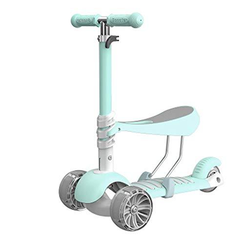 Kraftstationen Roller für Kinder mit Klappsitz - Neuer 2-in-1 verstellbarer 3-Rad-Tretroller für Kleinkinder Mädchen & Jungen - Lustiges Outdoor-Spielzeug für Kinder Fitness-Spiele für draußen Junge M