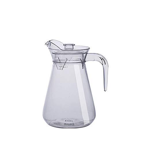 Jarra Agua Jugos Kettle Transparente Tarro de agua Bebida Botella Contenedor Plástico Leche Frío Beber Bar Barware Jarra (Color : 1000ML)
