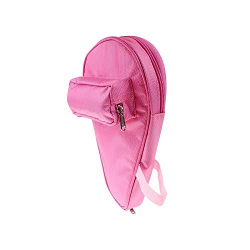 Ping Pong Paddle - Bolsa para bates de tenis de mesa con estuche para 2 unidades, color rosa