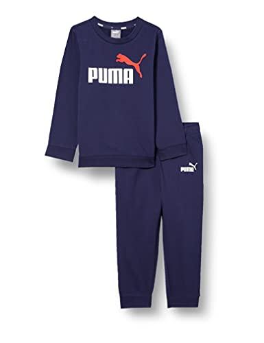 PUMA Minicats ESS Crew Jogger Tuta Sportiva, Unisex bambini, Peacoat, 92