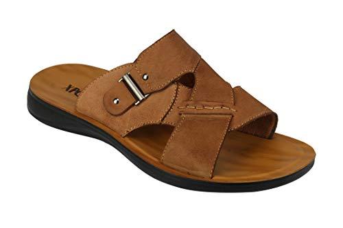 Sandalias de piel auténtica para hombre, con correa cruzada, para caminar en la playa, zapatillas abiertas, para verano, tallas grandes